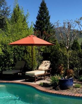 Choosing the best position for a garden parasol