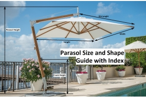 parasol size guide and index