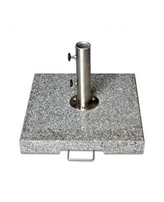50kg Grey Granite Parasol Base with Standard Tube