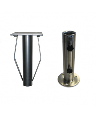In-ground sleeve + Adaptor Plate + Base tube