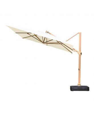 Stellar Aries Cantilever - Teak Wood Finish Aluminium Frame
