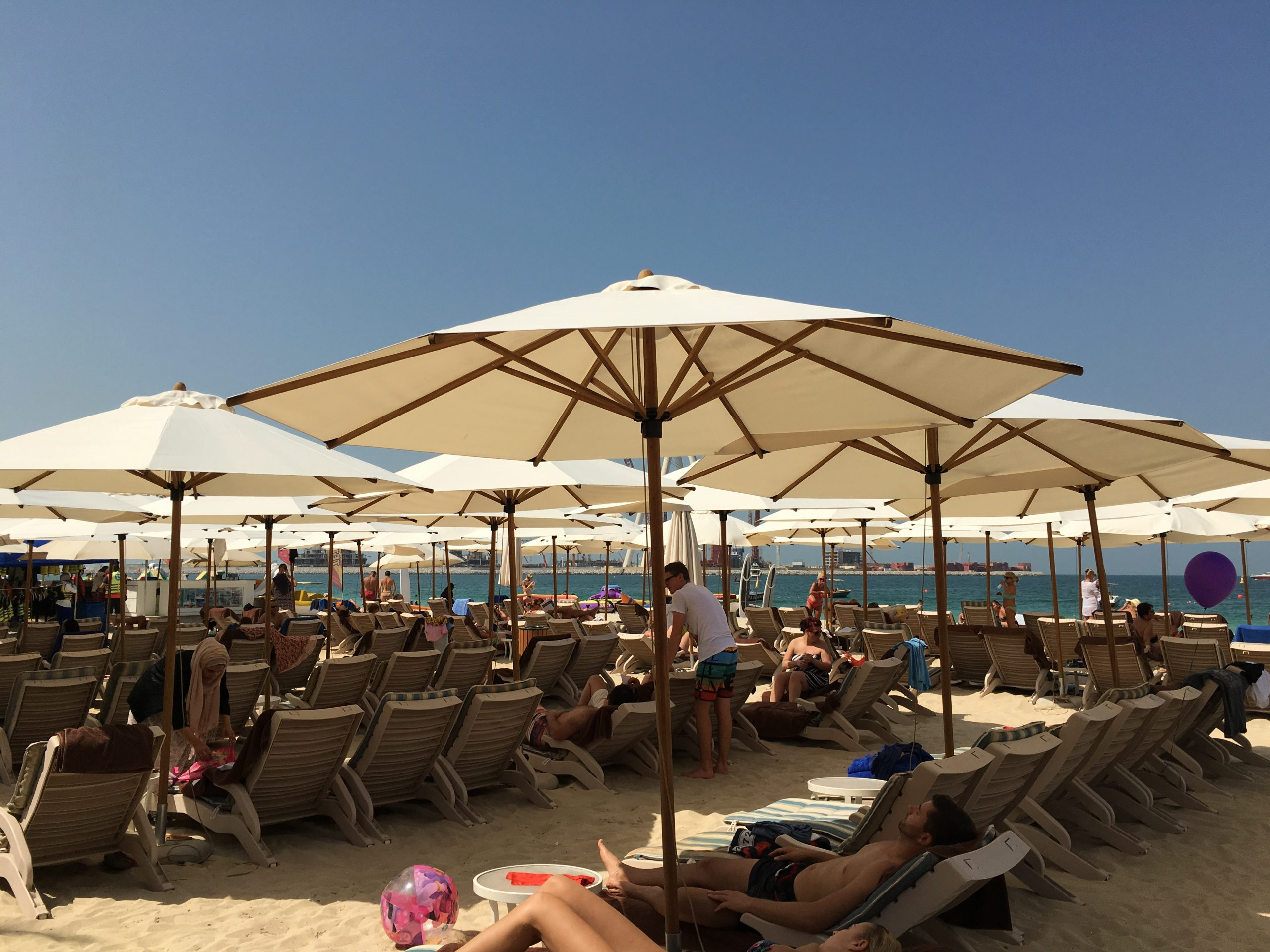 Bambrella Levante 3m Round Parasols - The Hilton Hotel Dubai