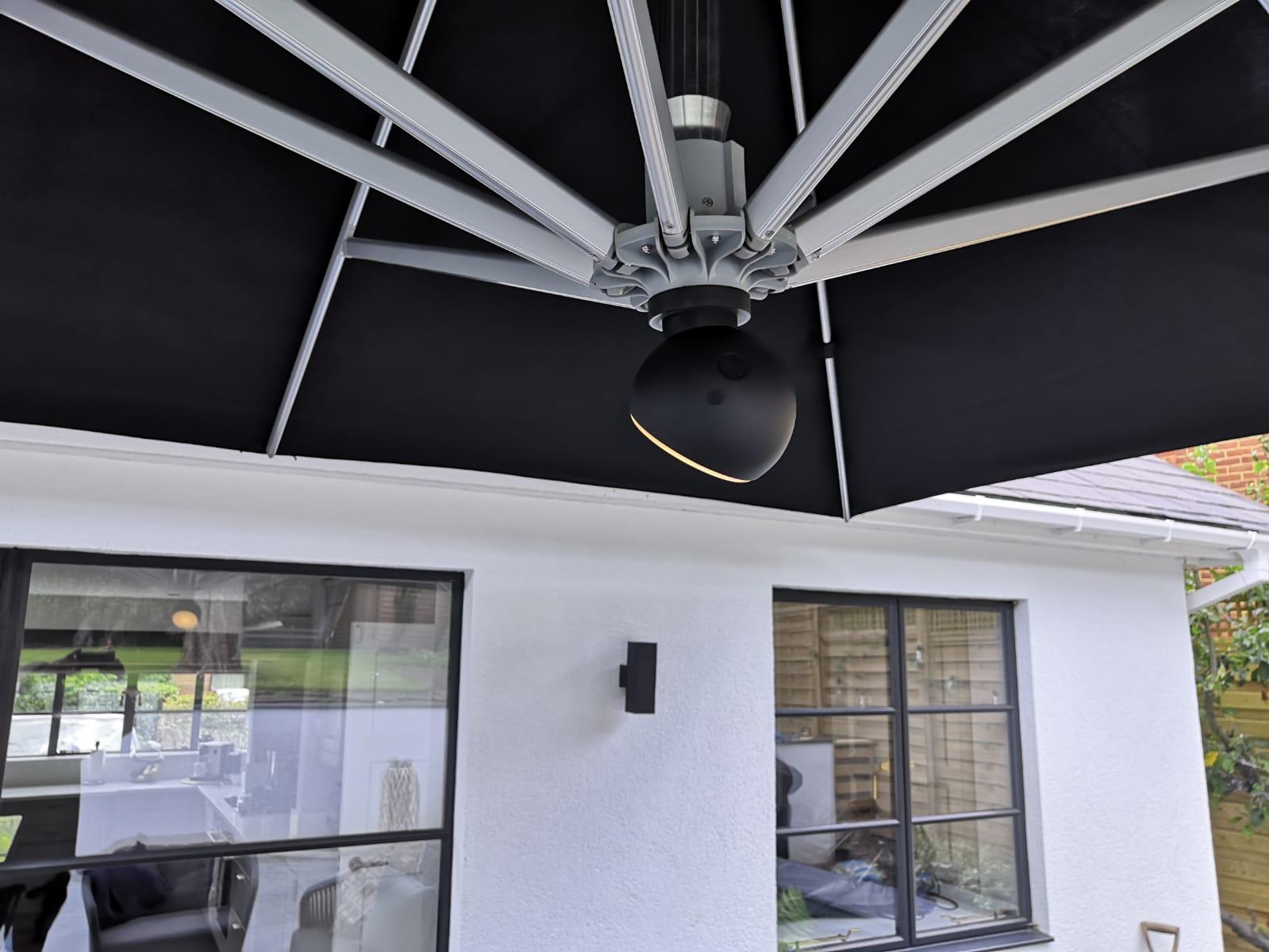 Bambrella Hurricane 3.4m Side Wind Aluminium Parasol