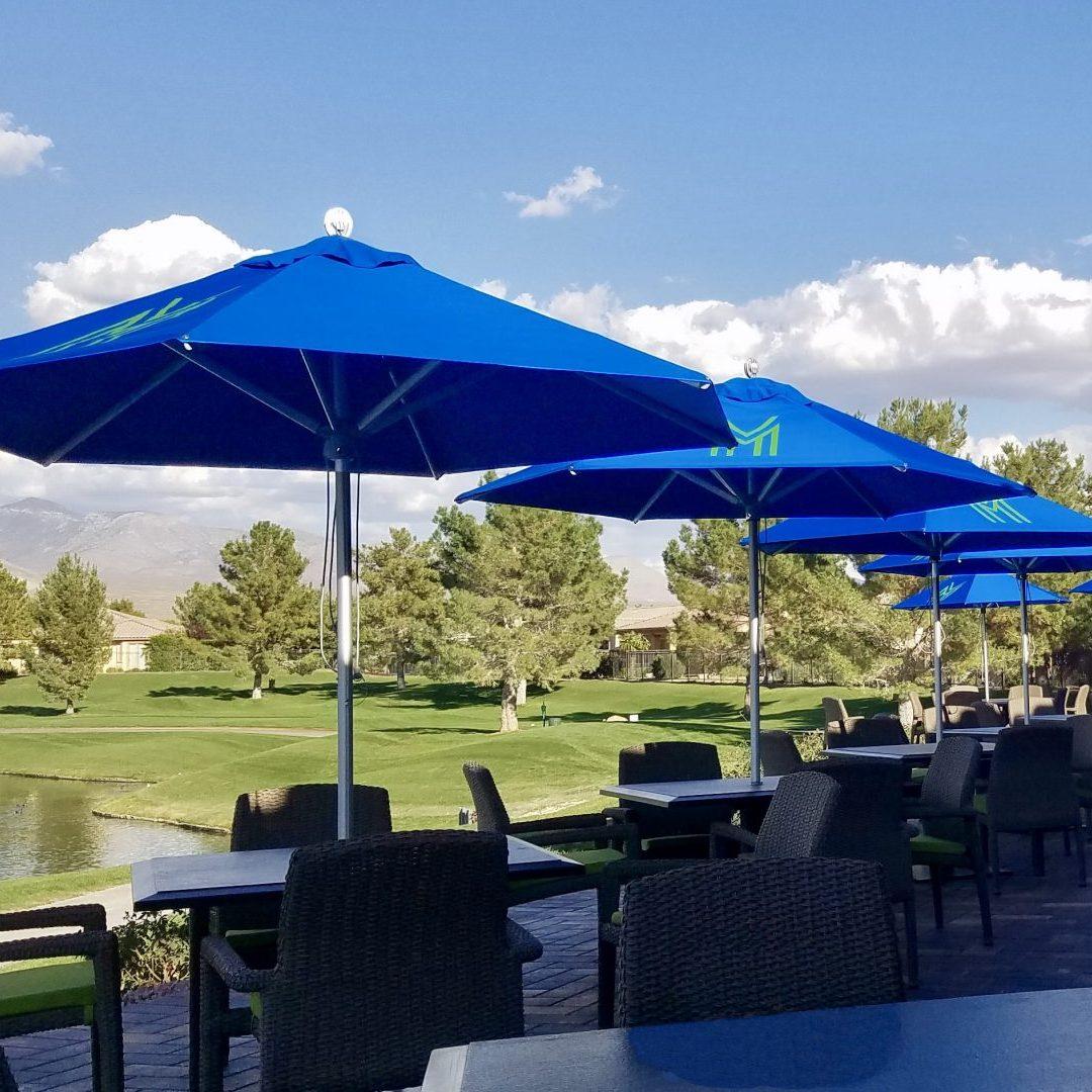 printed parasols for golf club