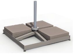 base with tiles for 4m cantilever parasol