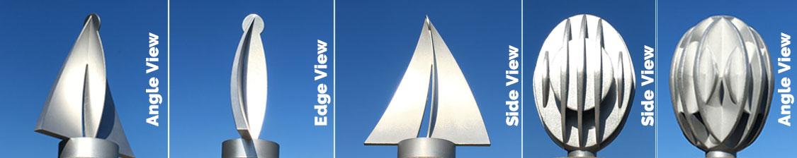 aluminium finial for parasol