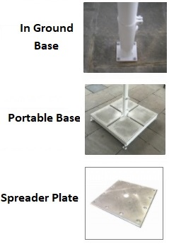bases for giant parasol