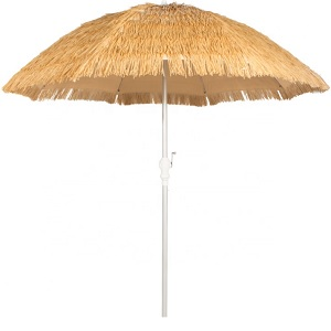 beach parasol with thatches canopy