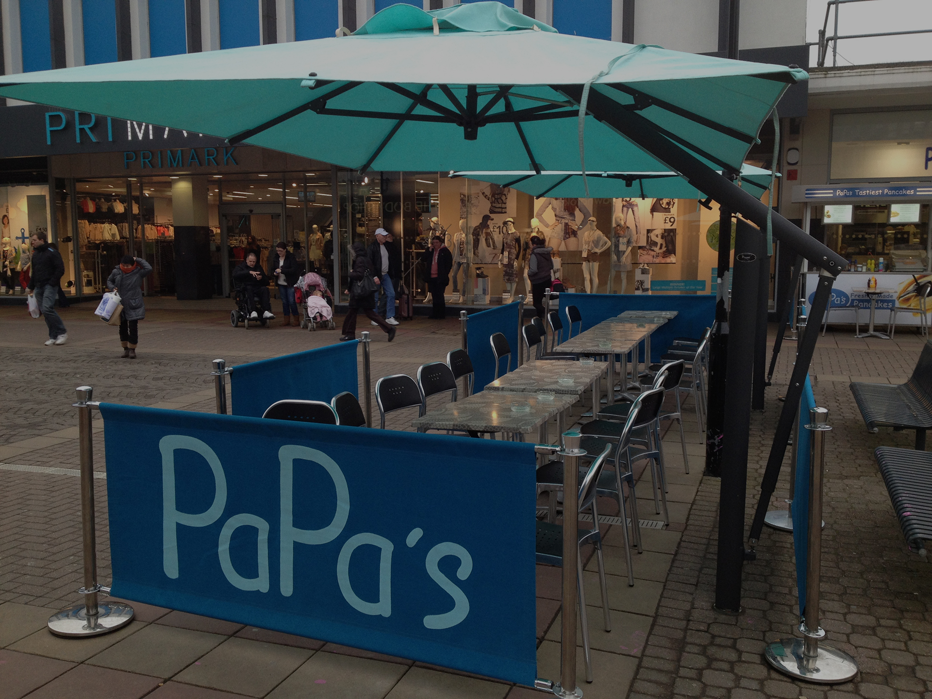 parasol for coffee shops