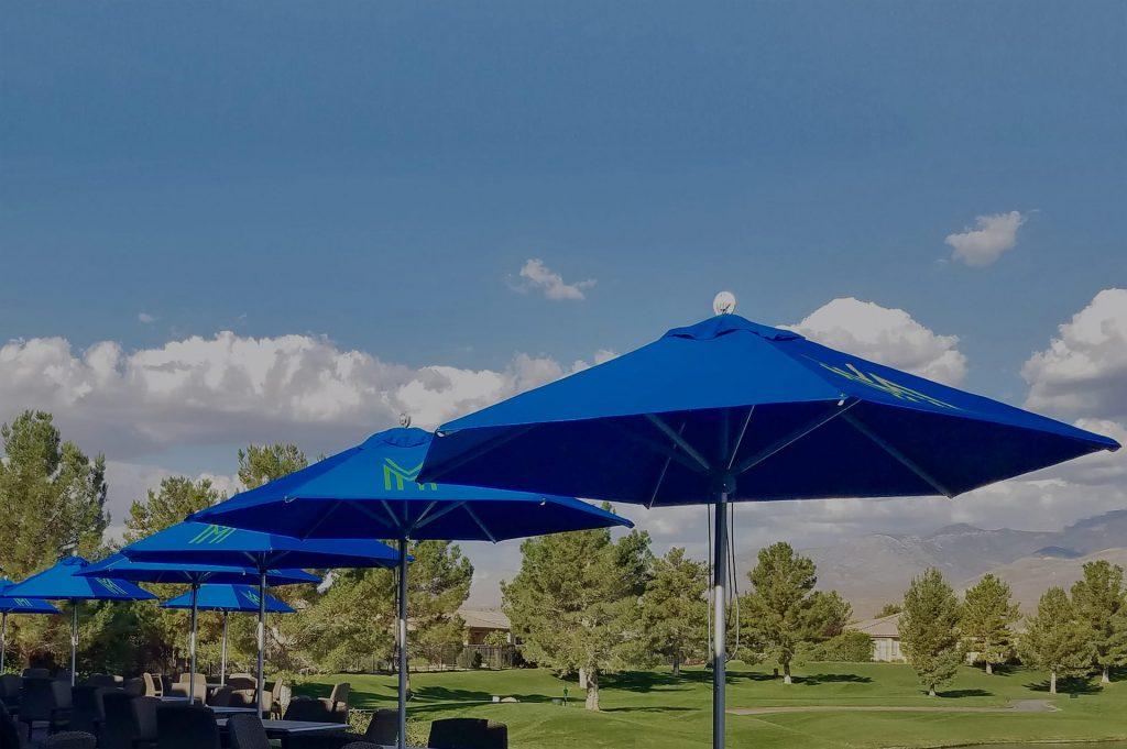 golf club parasols