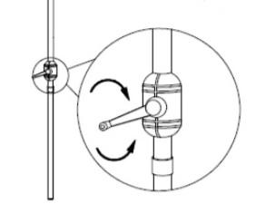 crank handle for parasol
