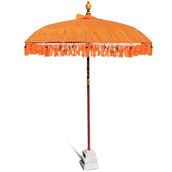 balinese parasol with decorative laces