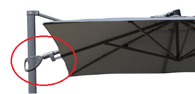 operating handle for 3m Square Cantilever Parasol