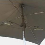 parasol heaters for hurricane extreme vortex