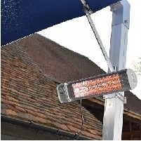 heater for waterproof cantilever parasol
