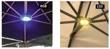 rgb led lights for parasols