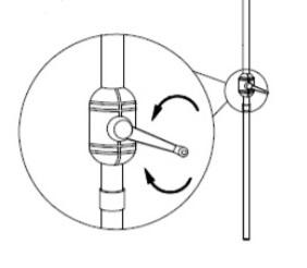 small garden parasol crank handle drawing
