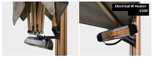 electric heaters for parasol quattro s