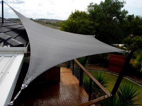 shade sail over balcony - black