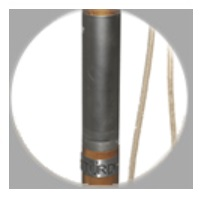 2 piece wooden pole for parasol