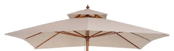 parasol canopy with vented top - front view