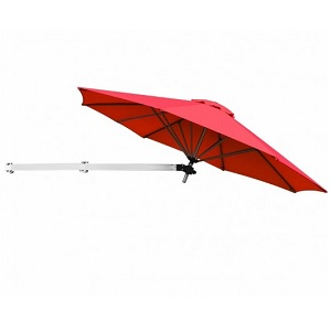 wall mounted parasol with metallic arm